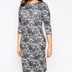 Asos Plus Size Floral Print Dress